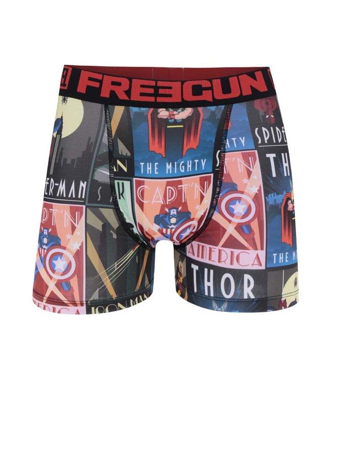 Boxeri roșu & negru Marvel Freegun cu imprimeu