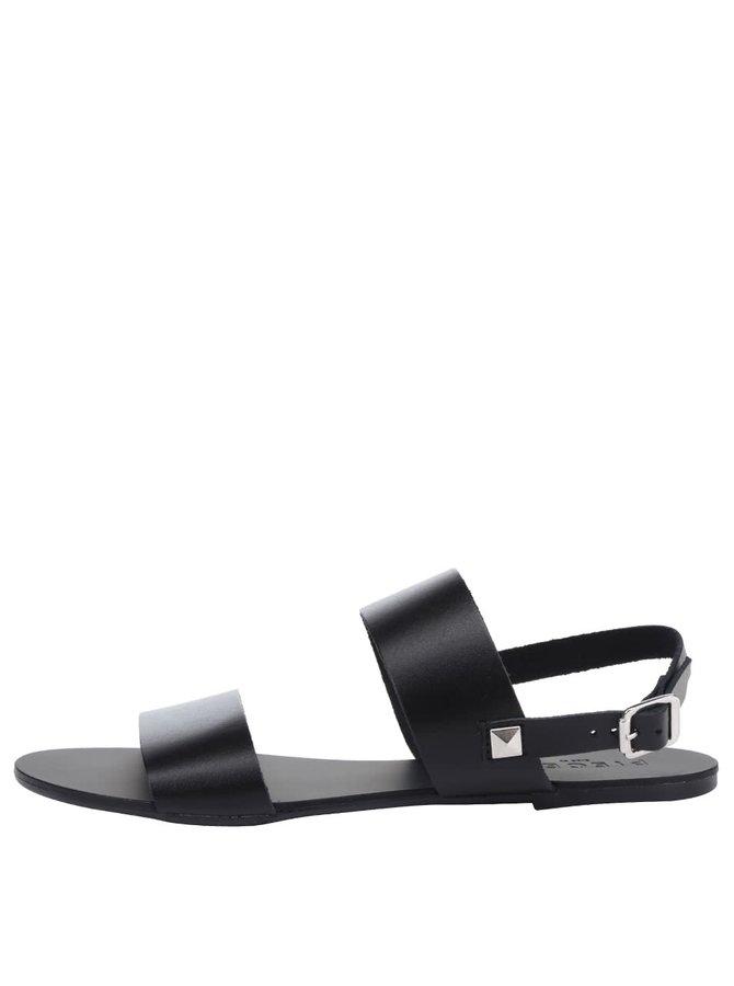 Sandale negre Pieces Lindsay din piele