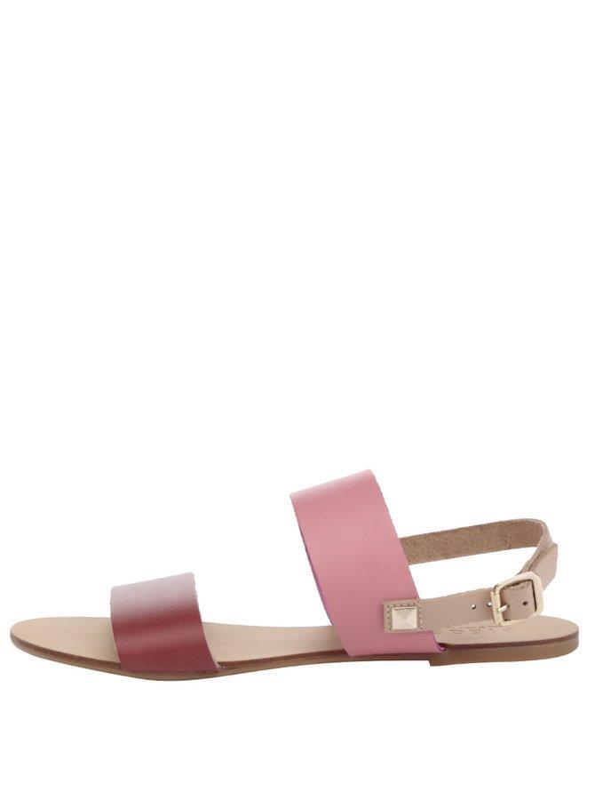 Sandale roz Pieces Lindsay din piele