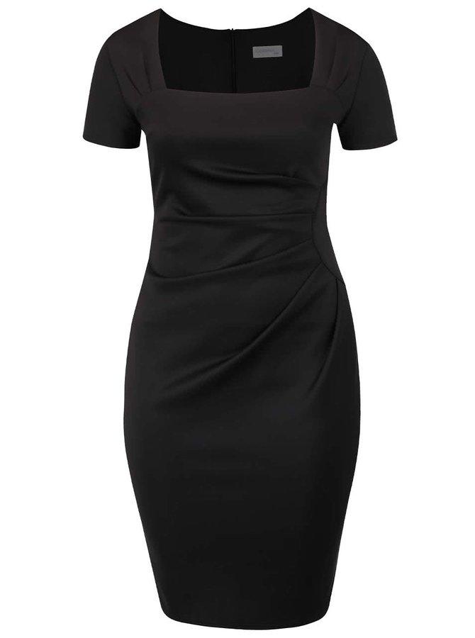 Rochie neagră Goddiva cu mâneci scurte