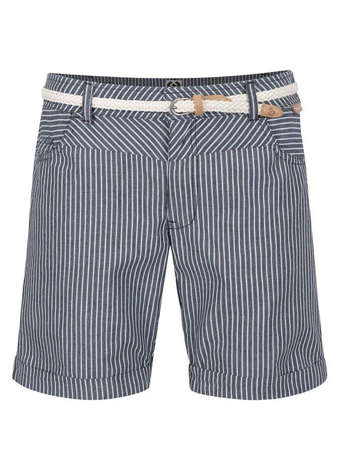 Pantaloni scurți albastru închis Ragwear Sandra A cu model în dungi