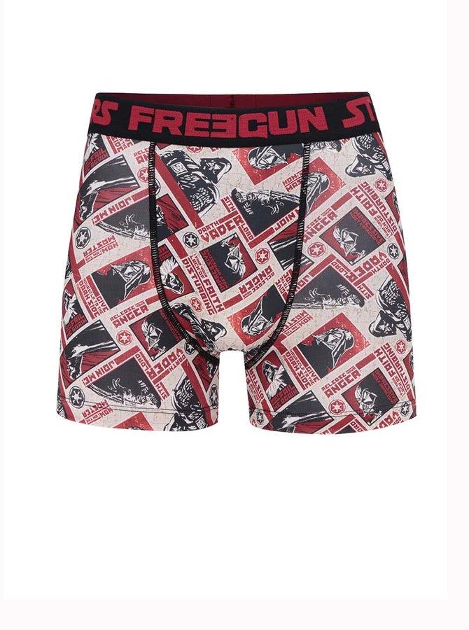 Černo-červené boxerky s potiskem Star Wars Freegun