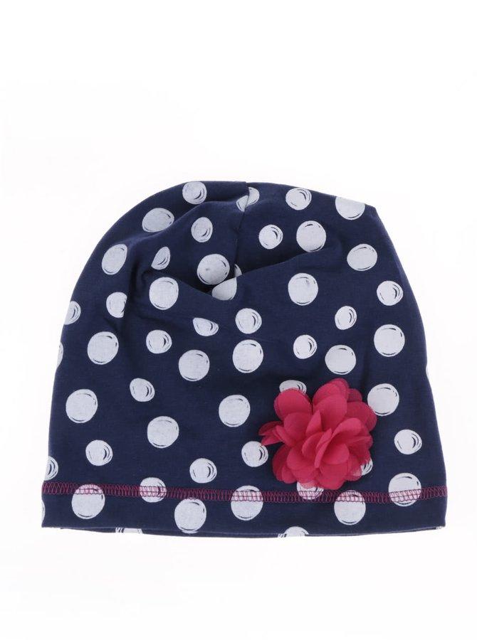 Modrá puntíkovaná holčičí čepice 5.10.15.