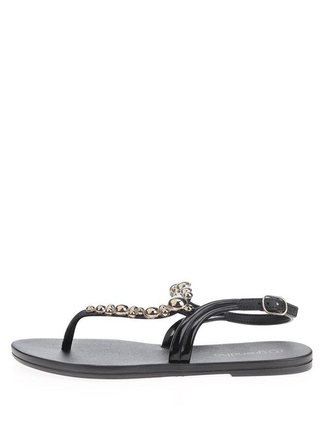 Černé sandály s detaily ve zlaté barvě Grendha