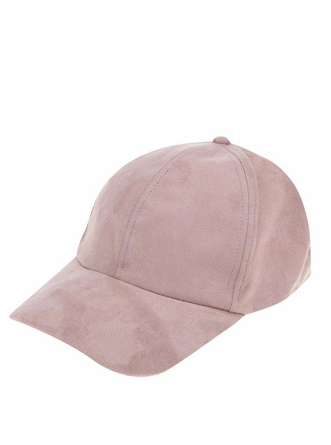 Růžová kšiltovka v semišové úpravě TALLY WEiJL