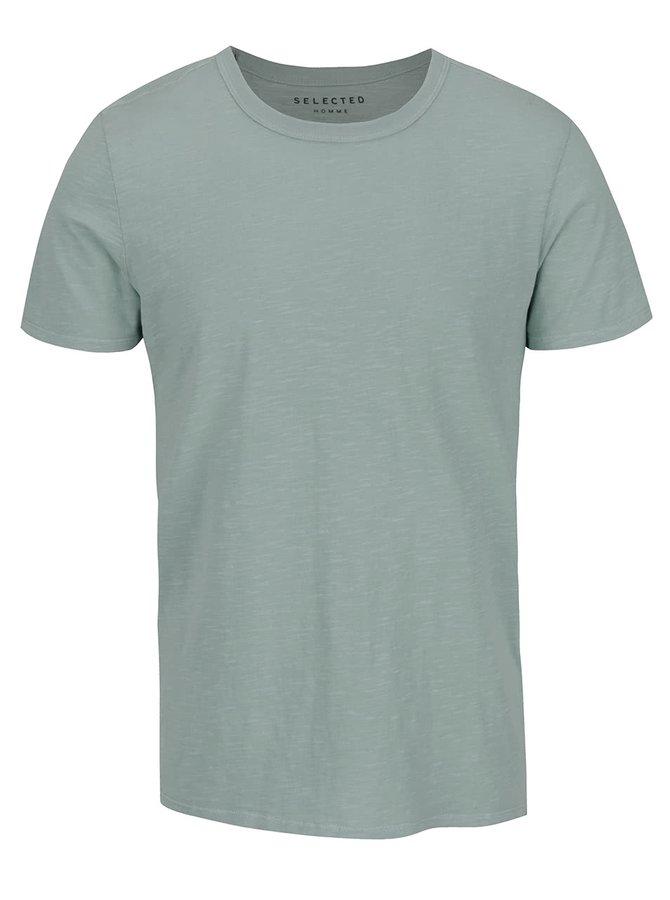 Zelené žíhané triko Selected Homme Ben