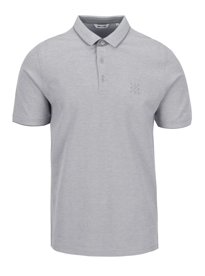 Šedé polo triko ONLY & SONS Stan