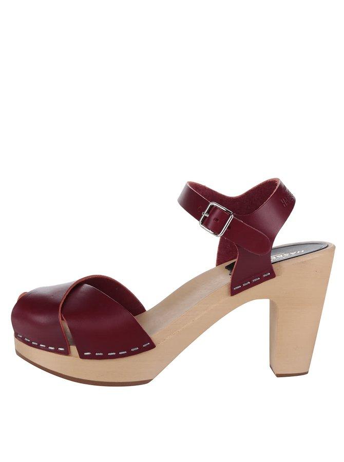 Sandale sabot cu toc din piele  Swedish Hasbeens Merci Sandal