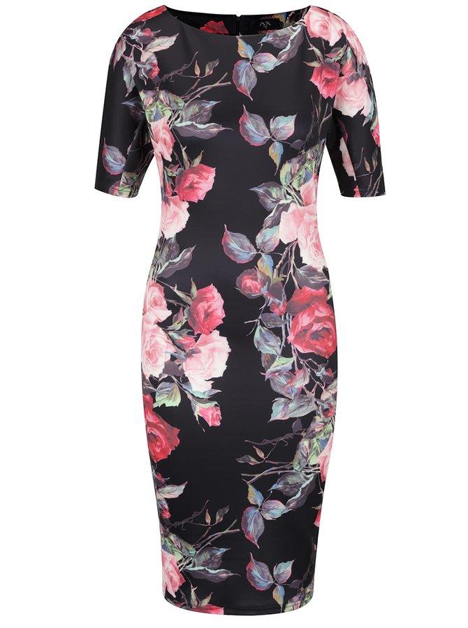 Černé květované šaty AX Paris