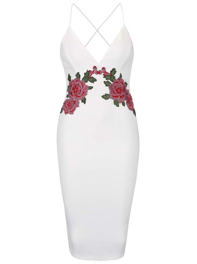 Krémové šaty s nášivkou AX Paris