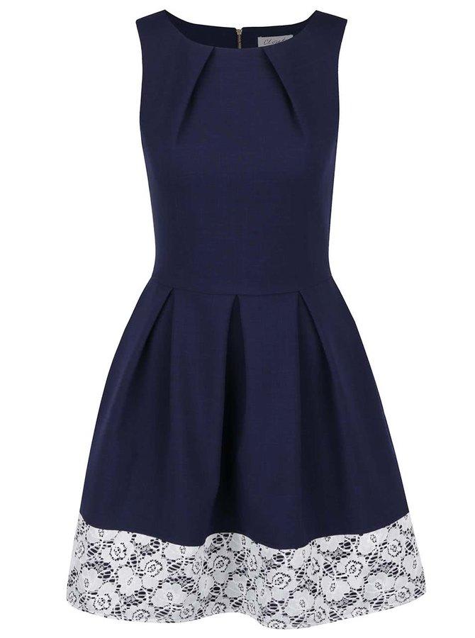 Tmavě modré šaty s krajkou Closet
