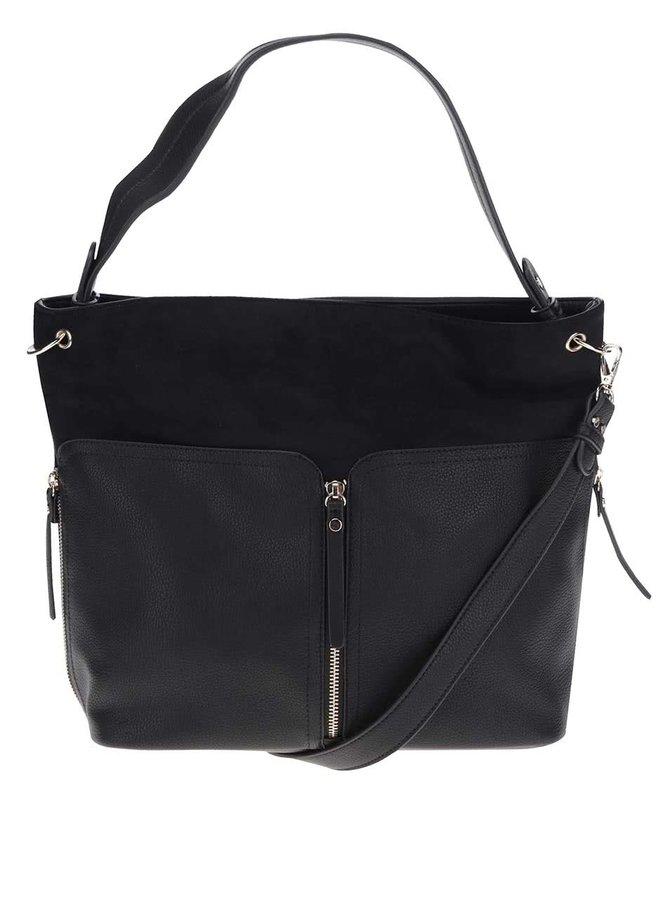 Černá kabelka s ozdobnými zipy Miss Selfridge