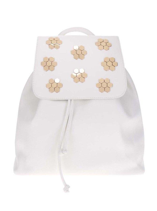 Krémový batoh s aplikací ve zlaté barvě Miss Selfridge