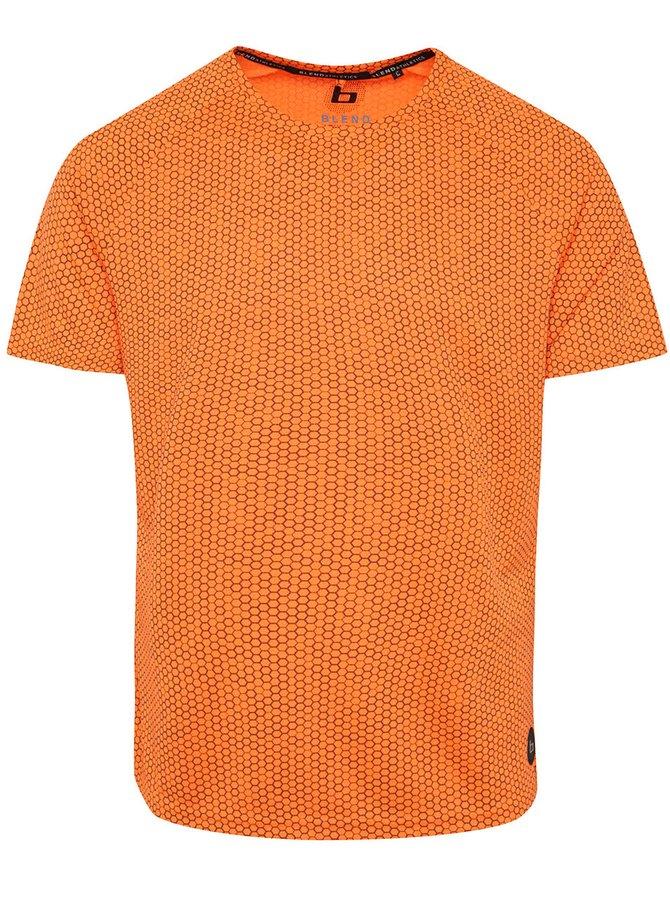 Oranžové vzorované sportovní triko Blend