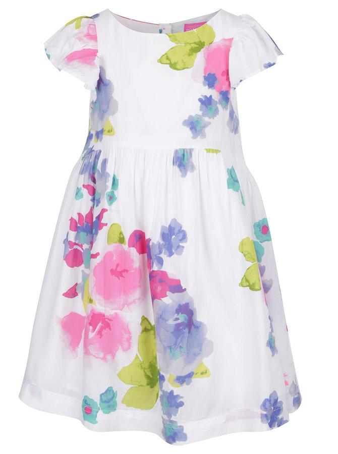 Biele dievčenské kvetované šaty Tom Joule