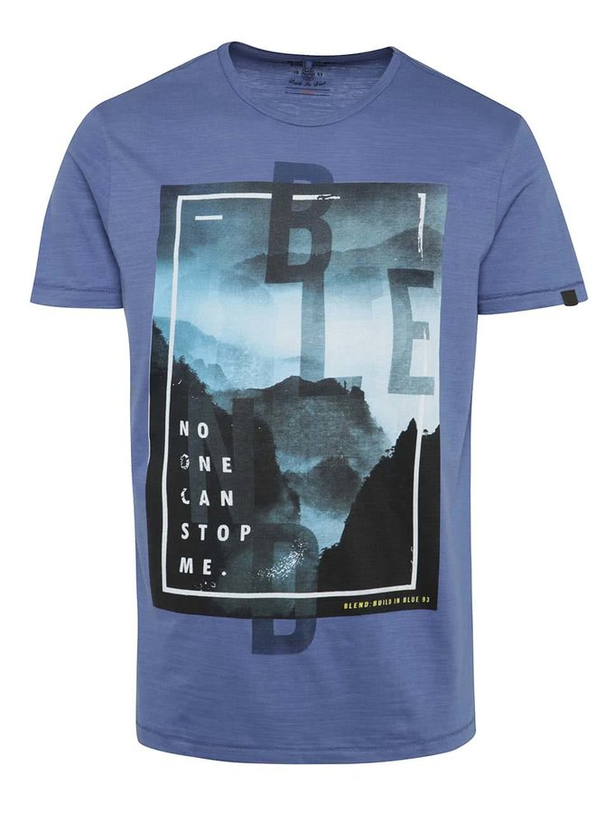 Modré triko s potiskem Blend