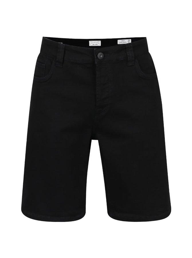 Pantaloni scurți negri ONLY & SONS Loom slim fit din denim