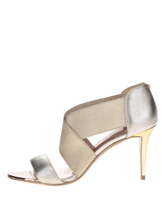 Sandále na podpätku v zlatej farbe Ted Baker Leniya