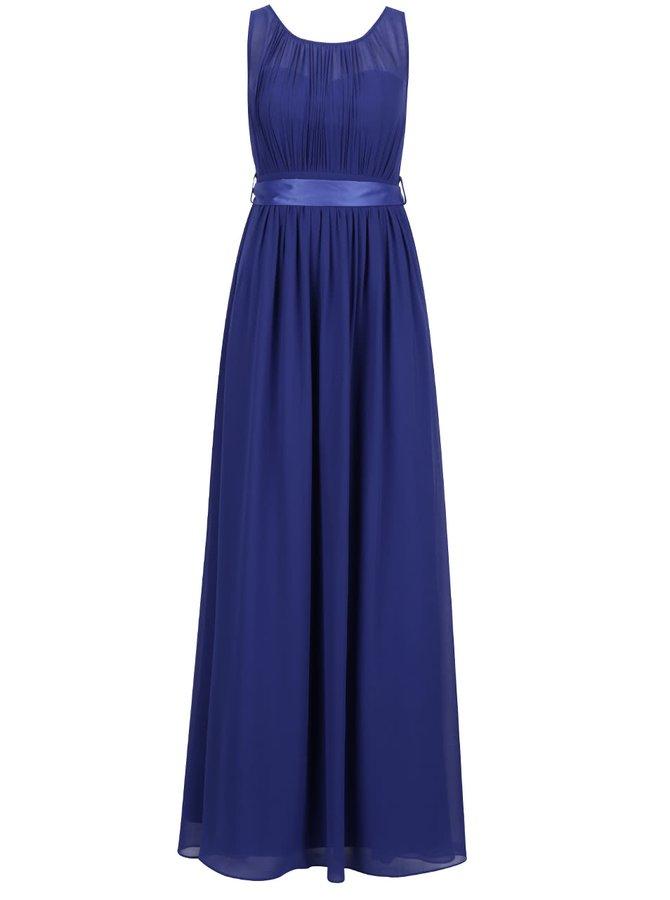 Rochie maxi albastră Dorothy Perkins cu panglică în talie