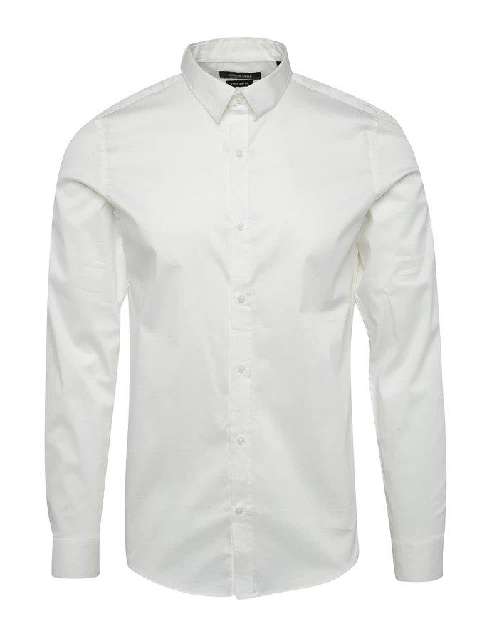 Bílá extra slim fit košile Only & Sons Alejandro
