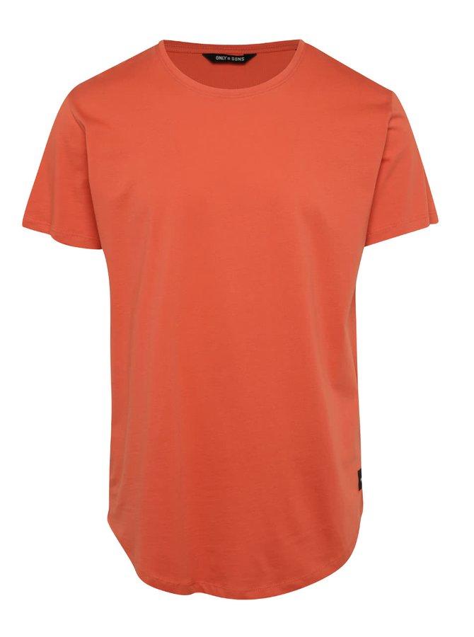 Oranžové basic triko Only & Sons Matt