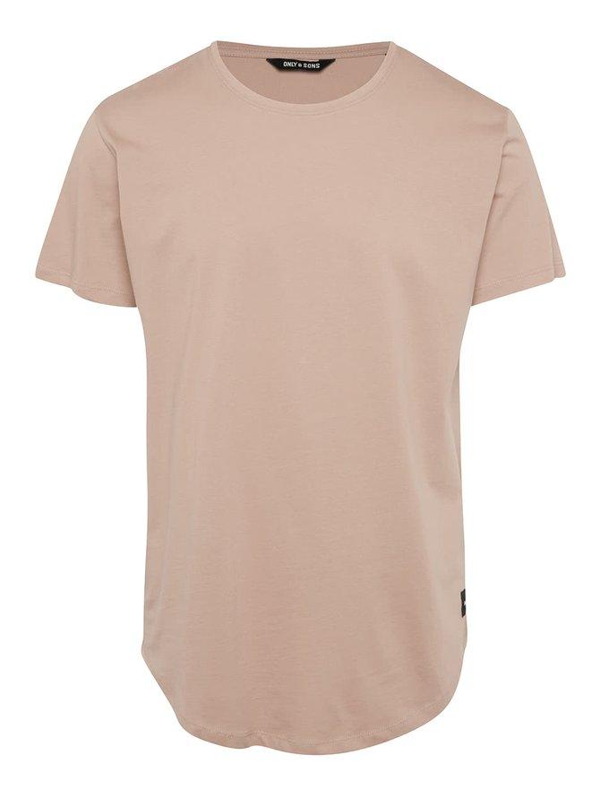 Růžové basic triko Only & Sons Matt