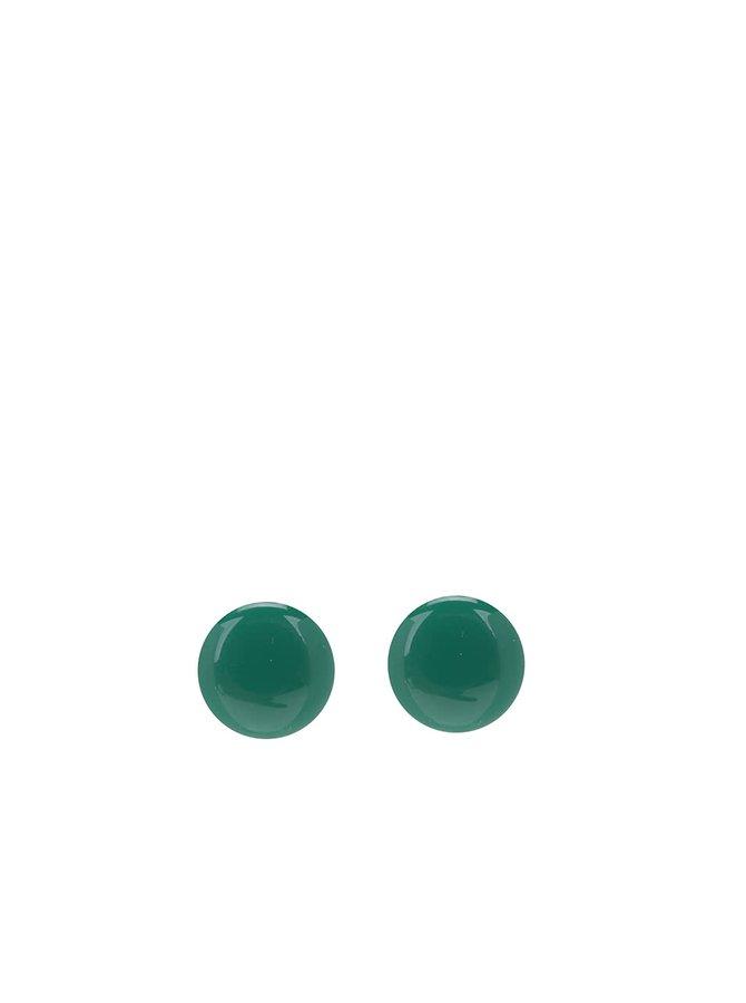 Tmavě zelené naušnice Pieces Miebe
