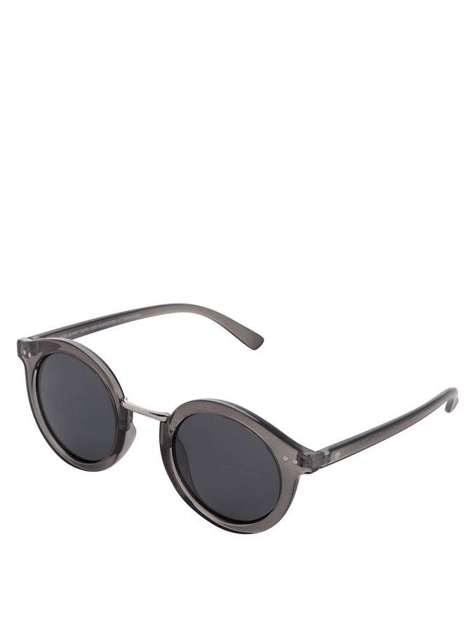 Šedé transparentní unisex sluneční brýle CHPO Vanessa