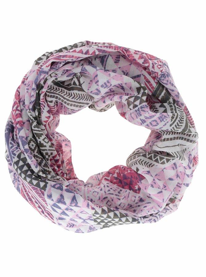 Krémovo-růžový dutý šátek Pieces Soon