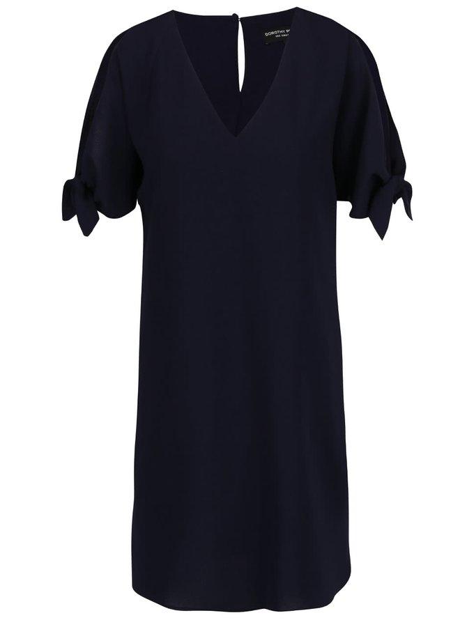 Tmavě modré šaty s průstřihy na ramenou Dorothy Perkins