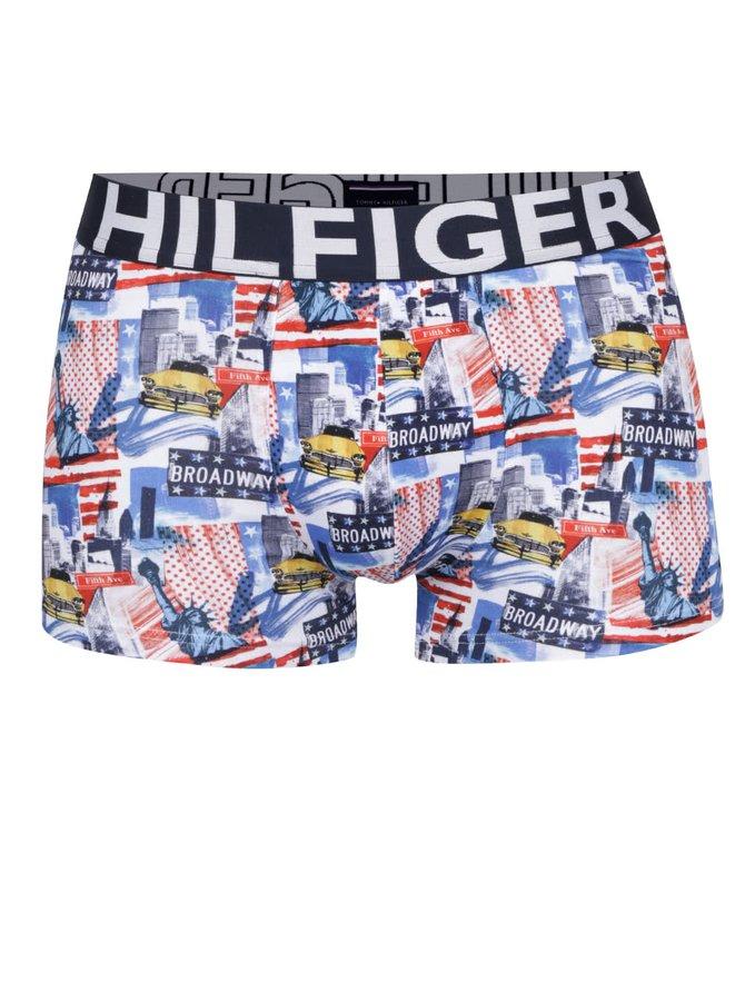 Modro-červené boxerky s potiskem Tommy Hilfiger