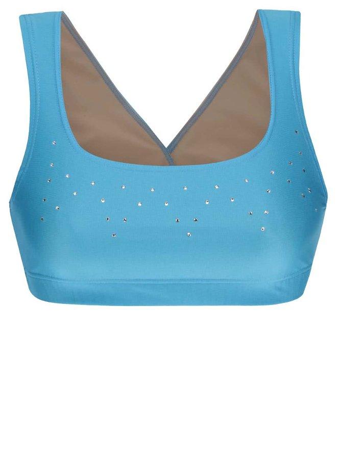Modrá sportovní podprsenka s aplikací Mania fitness wear Falling star