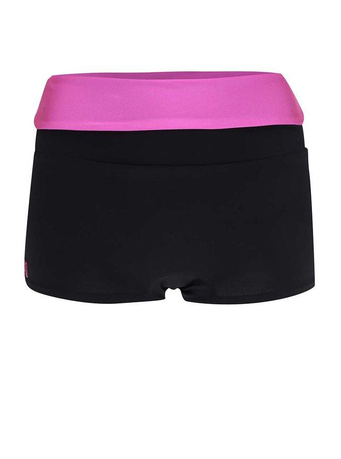 Pantaloni scurți sport Mania fitness wear Invert cu talie înaltă fucsia