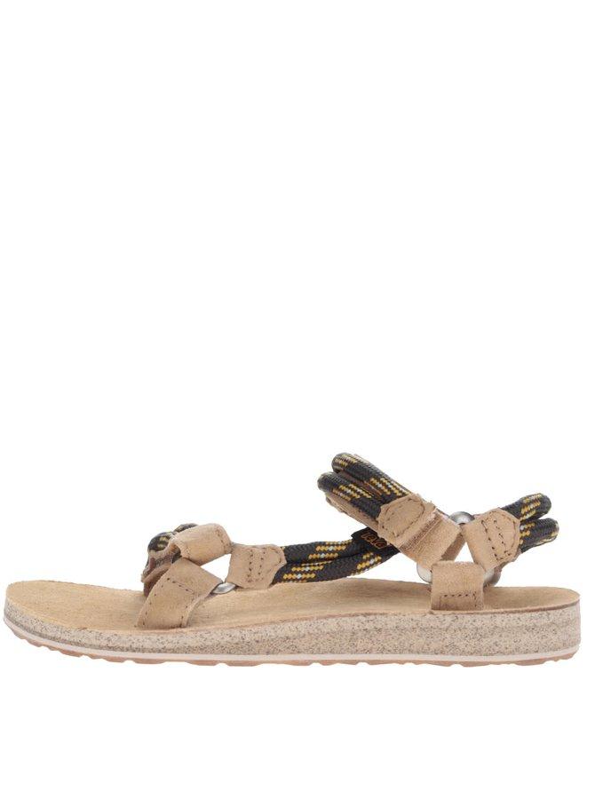 Šedo-béžové semišové dámské sandály s detaily Teva