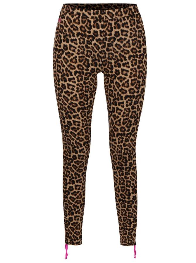 Hnědé sportovní leopardí legíny Mania fitness wear Tender Beast