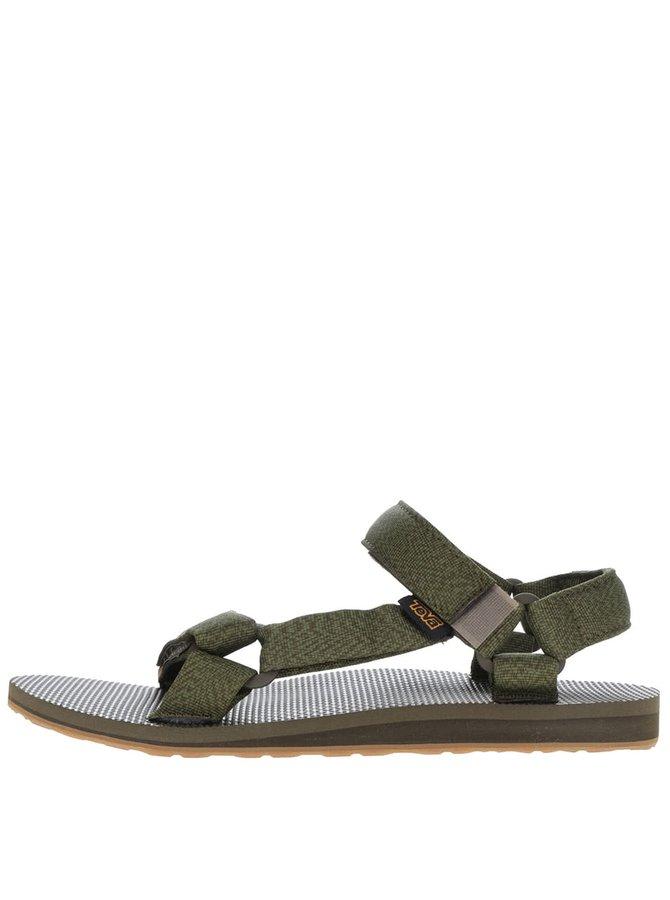 Khaki žíhané pánské sandály Teva