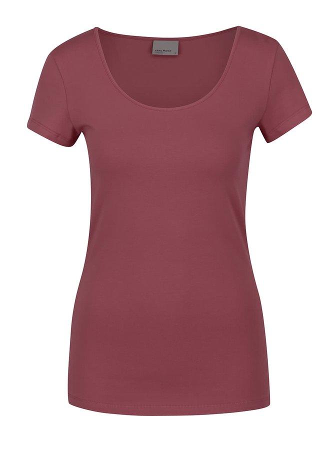 Vínové tričko s krátkým rukávem VERO MODA Maxi My