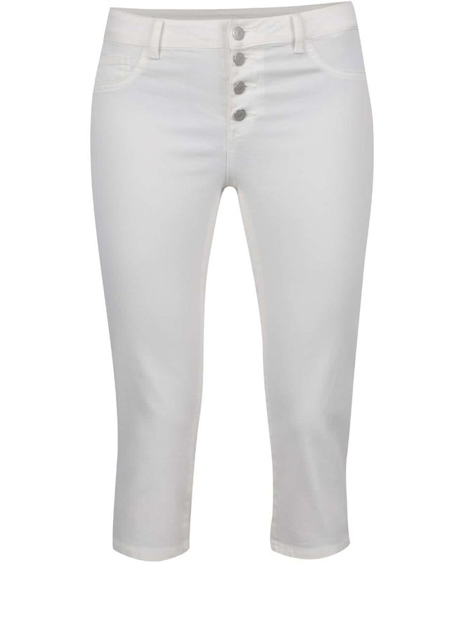 Pantaloni trei sferturi crem VILA Commit