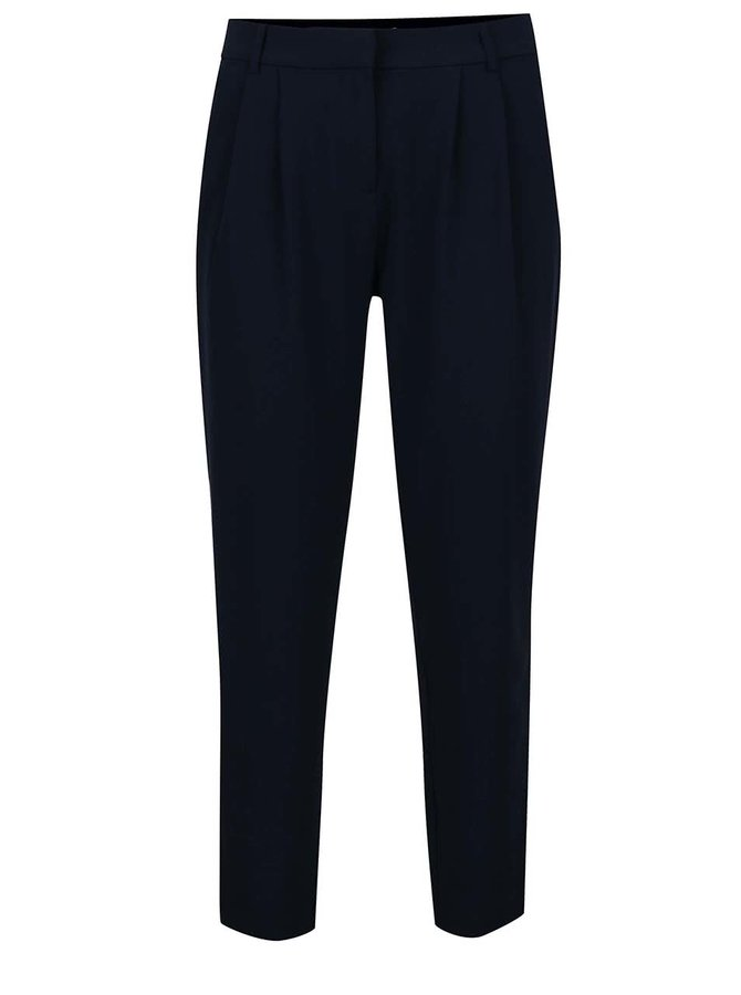 Pantaloni albastru închis VILA Fera cu pense decorative