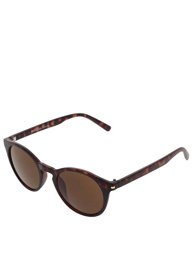 Tmavě hnědé vzorované sluneční brýle Selected Homme Carl