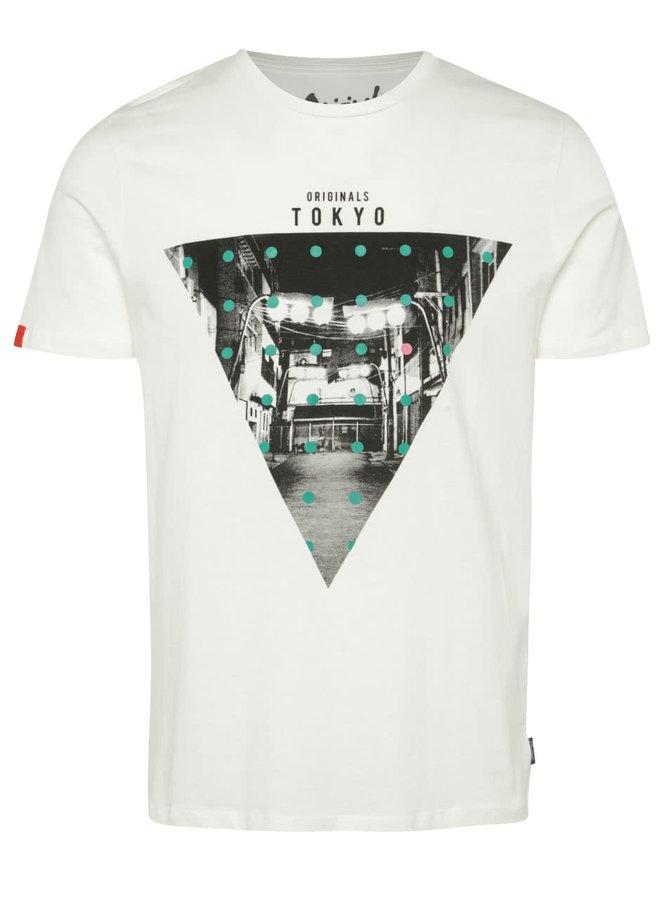Krémové triko s potiskem Jack & Jones Blast Tokyo