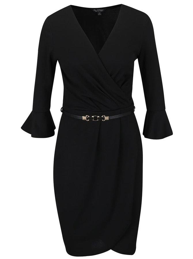 Rochie neagră Miss Selfridge cu croi asimetric