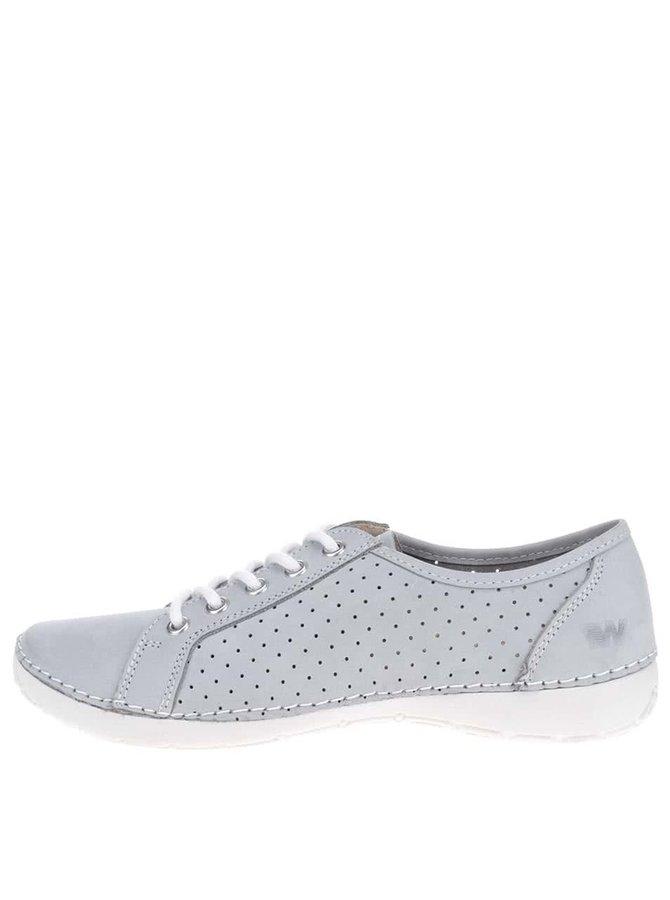 Pantofi casual gri deschis Weinbrenner cu perforații
