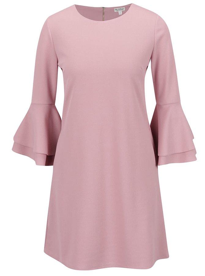 Růžové šaty s volány na rukávech Miss Selfridge
