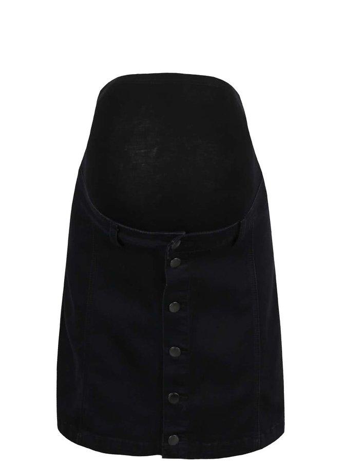 Černá džínová těhotenská sukně na knoflíky Dorothy Perkins Maternity