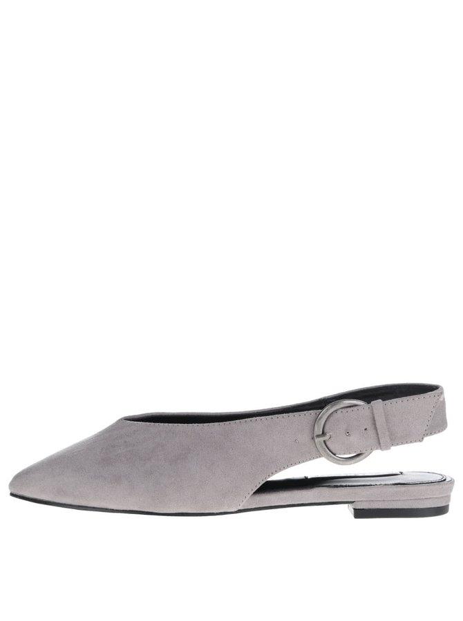 Sandale gri Miss Selfridge cu aspect de piele întoarsă