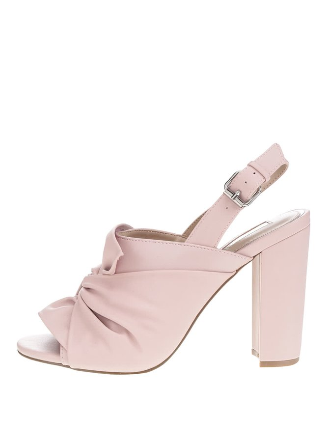 Sandale roz Miss Selfridge cu toc masiv