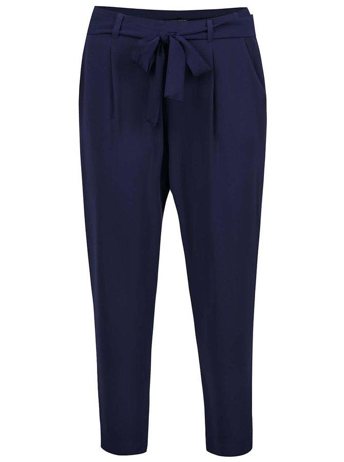 Tmavě modré volné kalhoty s páskem Dorothy Perkins