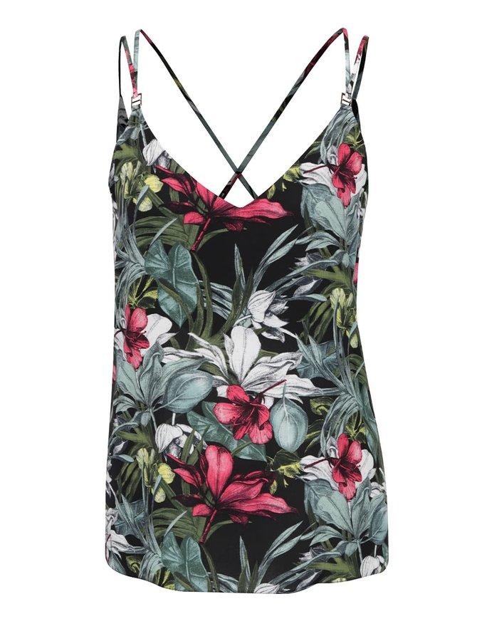 Top negru & verde Dorothy Perkins cu model floral