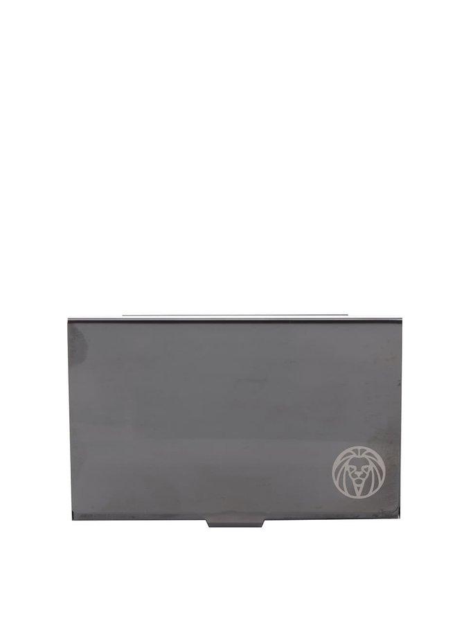 Tmavě šedé pánské ocelové pouzdro na karty Lucleon